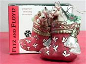 FITZ AND FLOYD Collectible Plate/Figurine GREGORIAN STOCKING ORNAMENT
